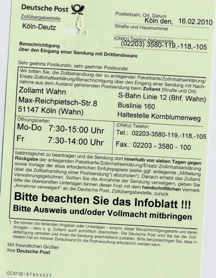 Hobby King Und Deutsche Post Eine Geschichte Mit Happe End
