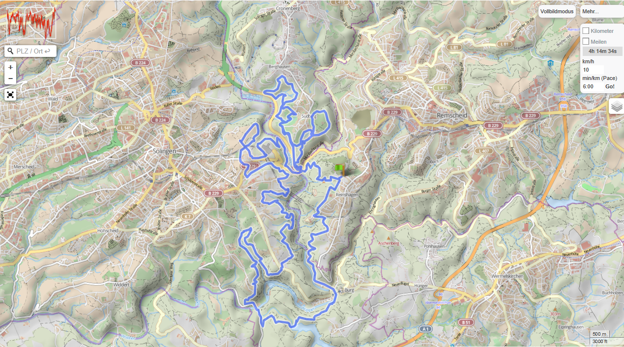 Mountainbike Tour Remscheid Bergischer Trail Hammer GPSies.png