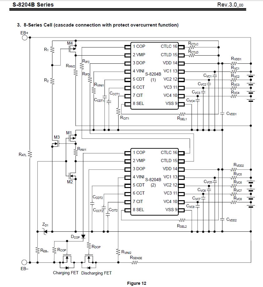 Anschlußreihenfolge des BMS aus einem Phylion XH370-10J-Akku ...